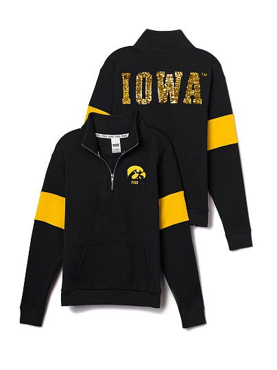 University of Iowa Bling Half-Zip Pullover PINK . Yay!! My dads actually getting me this for Christmas :)
