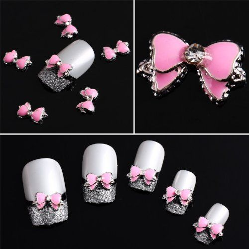 41 best 3d nail art images on pinterest 3d nails art nail art buy fashion pink multi rhinesto bow tie nail art decoration stickers diy at cute beauty shopping prinsesfo Choice Image