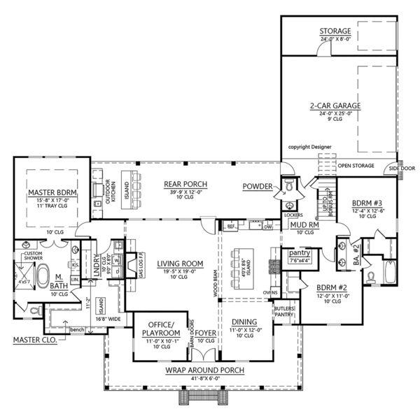 Farmhouse Style House Plan 3 Beds 3 5 Baths 2435 Sq Ft Plan 1074 4 Farmhouse Style House Plans Farmhouse Style House House Plans