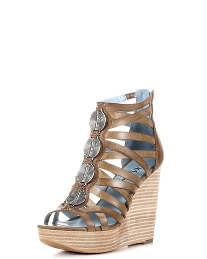 sexy wedge by Miranda Lambert Women's Santion Shoe - Natural