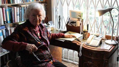 """PD James writing at 93 gave us 10 tips to writing a novel. My favorite= """"Don't think about it or talk about it, get the words down."""""""