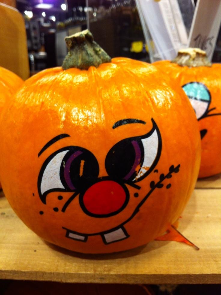 Decorated pumpkin at wegman s supermarket ain t it cute