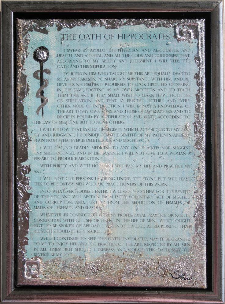 Hippocratic Oath... Tiffany style...