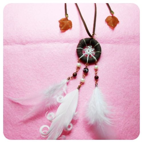 back to nature colour, simple design and brownie inside :) ALAMEDA necklace, IDR 50000