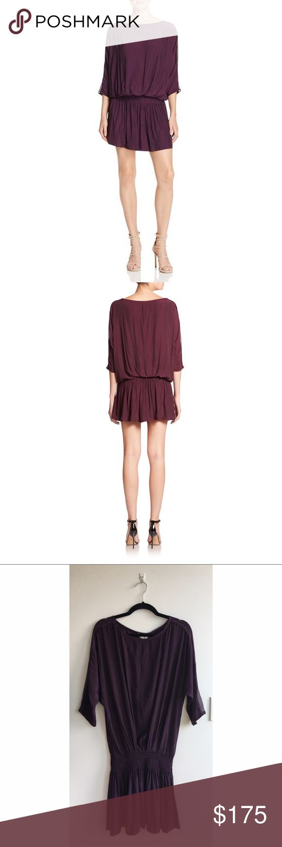 Deep Purple Dropped Waist Dress - Deep purple blouson dress - Ramy Brook brand, purchased at Bloomingdales - Made of poly & silk - Elastic dropped waist silhouette with blouson effect - Never worn, still has tags Ramy Brook Dresses Long Sleeve