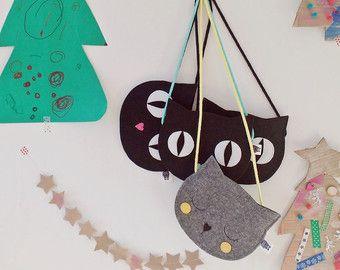Kids bag Purse for girl Gift for girl Cat by SewManUniverseMaster