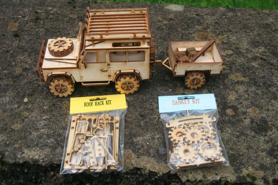 Wooden Model Land Rover 90 by FleursGifts on Etsy