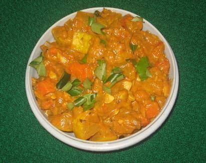 Indian Recipes - Yellow Squash Curry