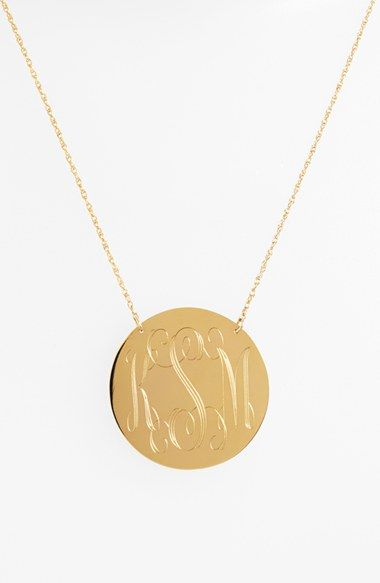 love this gold monogram necklace that's on sale now during Nordstrom's Anniversary Sale of all new pre-fall and fall products!