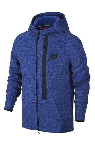 Nike+'Tech+Fleece'+Full+Zip+Hoodie+(Little+Boys+&+Big+Boys)+available+at+#Nordstrom