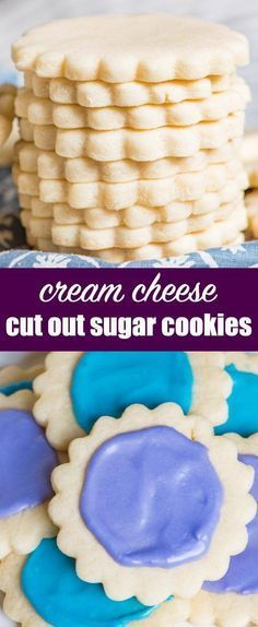 Soft, chewy cream cheese sugar cookies. This easy cut out sugar cookie recipe stays soft for days. Perfect for any holiday and ideal for gift giving. Cream Cheese Sugar Cookies {Easy Cut Out Sugar Cookie with Frosting}   #cookies #recipe #creamcheese