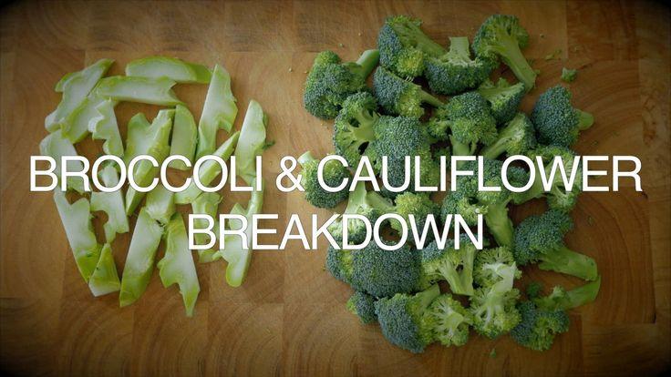 Cauliflower & Broccoli breakdown - Don't waste the best parts!