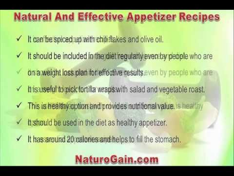 This video describes about natural and effective appetizer recipes with nutrition facts for fitness. You can find more detail about Home recipes at http://www.naturogain.com