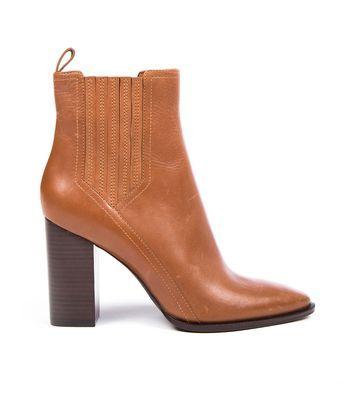 Schoenen Whatfor point boot - Bruine laarsjes van het merk Whatfor. De laarsjes zijn gemaakt van leer en hebben een hakhoogte van 9cm.