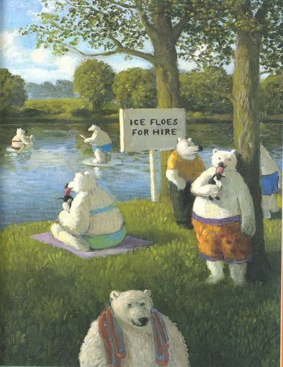 Michael Sowa. Social comment, humour and landscape art. Great combination!