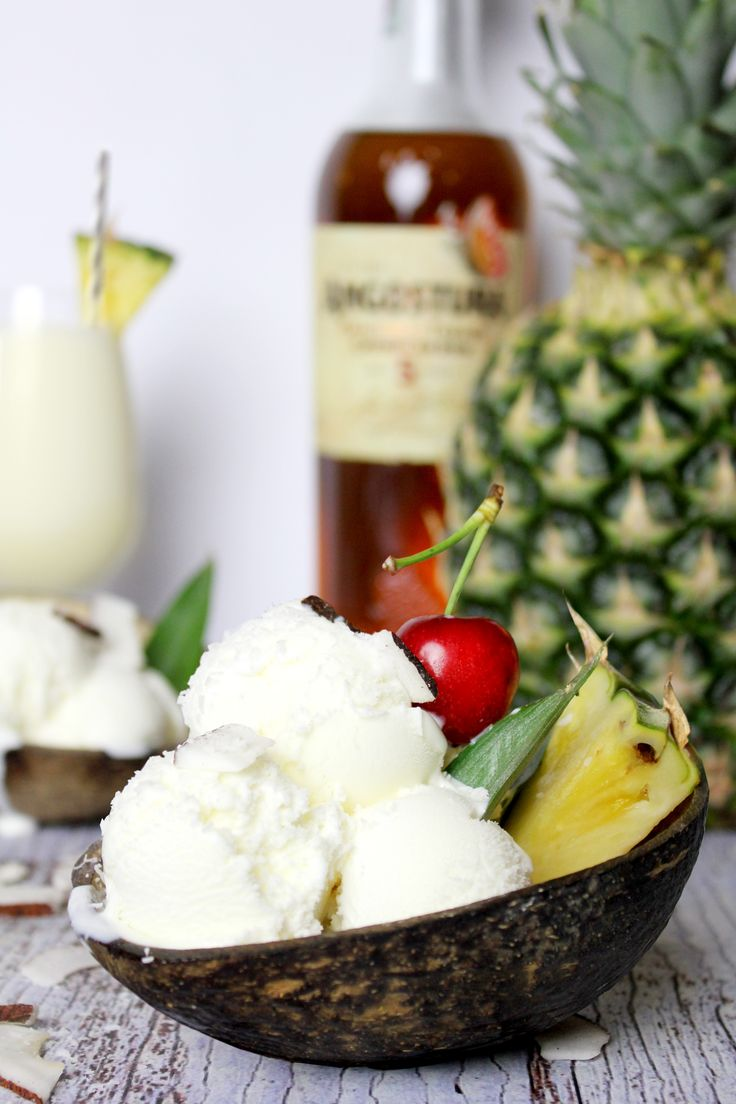 Pina Colada Ice-cream  https://www.instagram.com/thedesignfeeds/