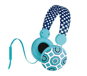 Headphones With Mic Don't be surprised if she ends up living in these. Cushioned for comfort, cute enough to build an outfit around, and equipped with a mic and remote for answering calls mid-song, there's no compelling reason to take them off. Available in nine designs.  To buy: $32, themacbethcollection.com.