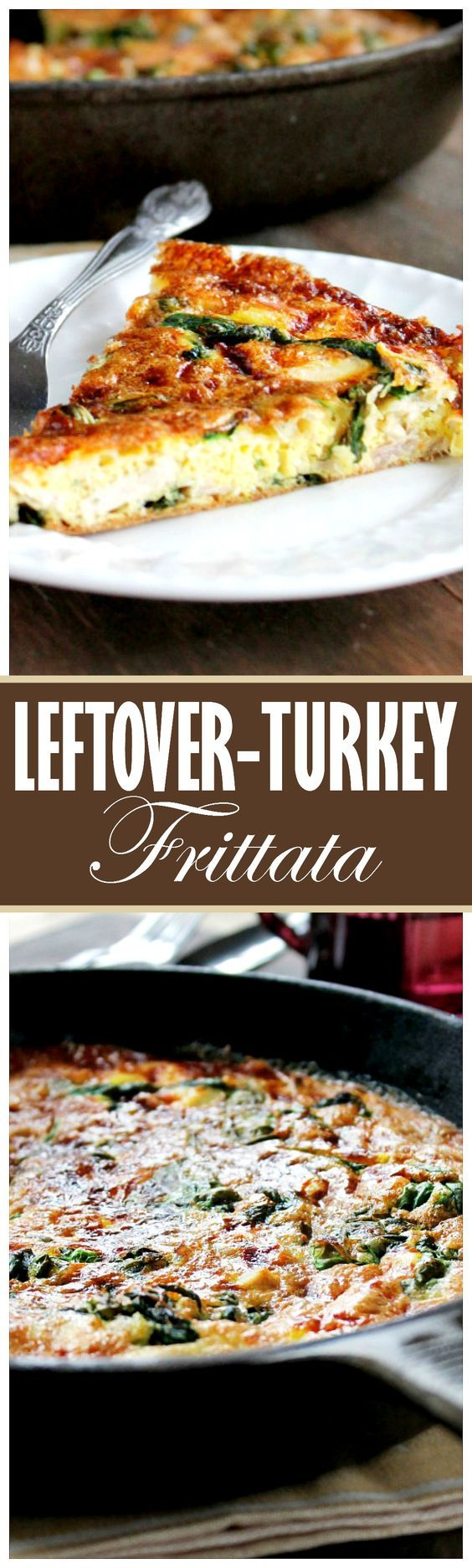 This simple Leftover Turkey Frittata with spinach and mozzarella is easy to make…