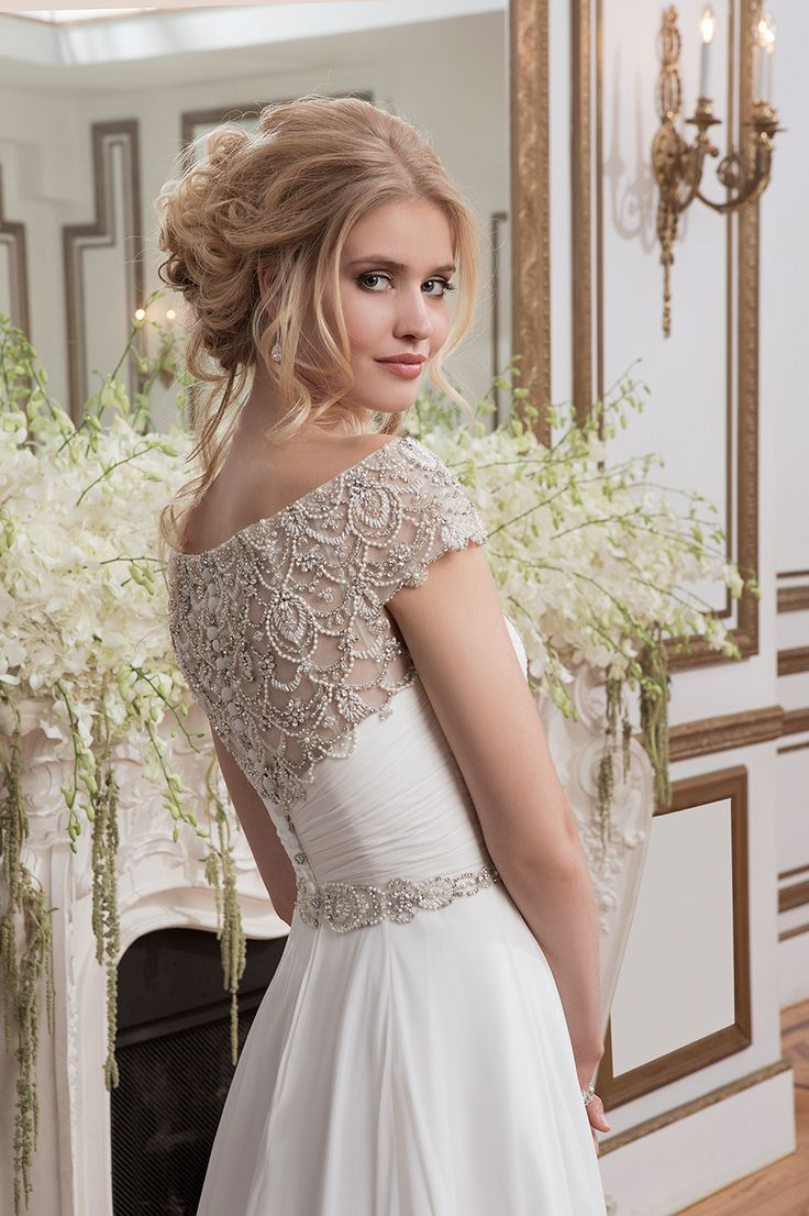 embroidered wedding dress, bridal gown