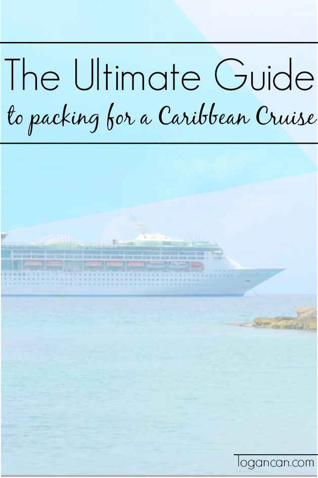 Packing list for carribian cruise.