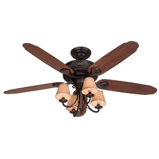 Shop for Hunter 54-inch Cortland New Bronze 5-blade Dark Cherry/ Walnut Fan. Get free shipping at Overstock.com - Your Online Home Decor Outlet Store! Get 5% in rewards with Club O! - 16179329