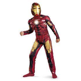 Iron Man 2 Mark 6 Light-Up Deluxe Costume, Child M(7-8) $26.95