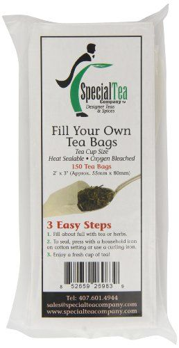 Special Tea Company Empty Tea Bags 2 Inch x 3 Inch 150 Count -- Click image for more details.