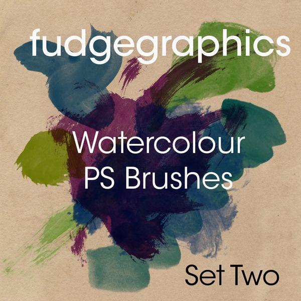 Watercolour Brushes Set 2 by fudgegraphics.deviantart.com on @DeviantArt