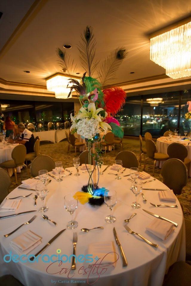 Centro de mesa de carnaval decoraci n carnaval - Centros para decorar mesas ...