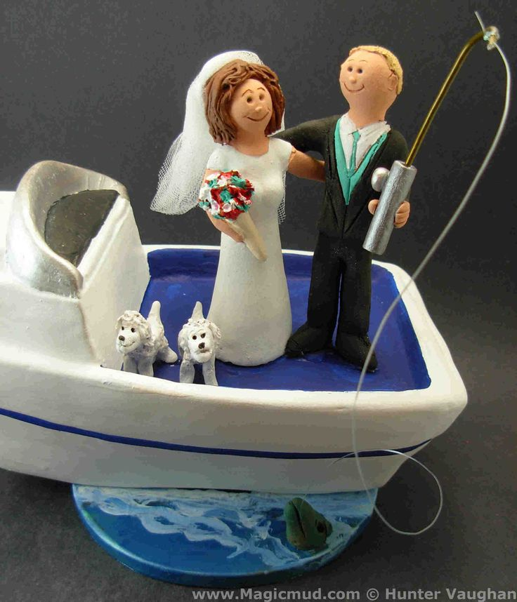 """Boater's Wedding Cake Toppers www.magicmud.com    1 800 231 9814  $250 magicmud@magicmud.com  http://blog.magicmud.com  https://twitter.com/caketoppers         https://www.facebook.com/PersonalizedWeddingCakeToppers #yacht #canoe#boat#powerboat#raft#""""fishing_boat""""#motor_boat#sailboat#boating #wedding #cake #toppers  #custom #personalized #Groom #bride #anniversary #birthday#weddingcaketoppers#cake toppers#figurine#gift#wedding cake toppers"""