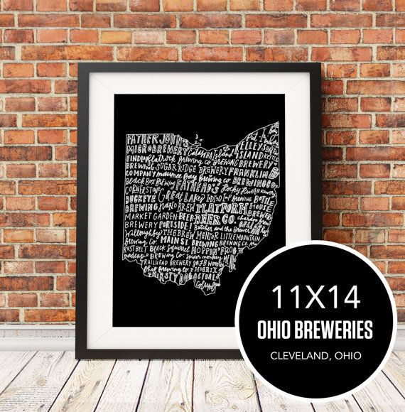 Ohio Breweries by seaworthi on Etsy