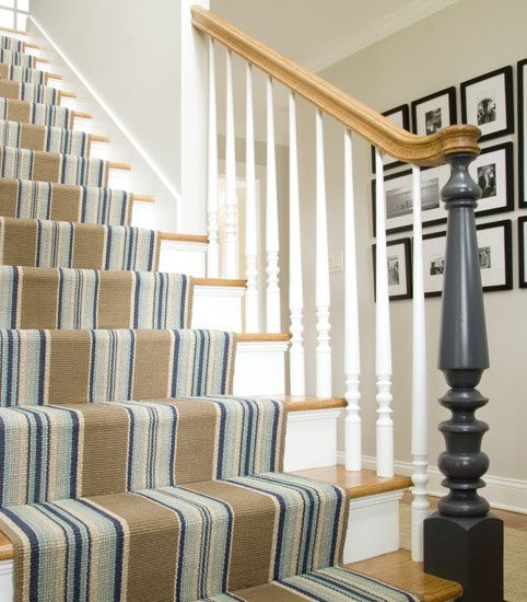 stripy stairs carpet