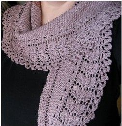 This is actually an American pattern from Interweave: http://www.ravelry.com/projects/FiberToFabric/lacy-kerchief-scarf