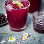 Blueberry Basil Margarita