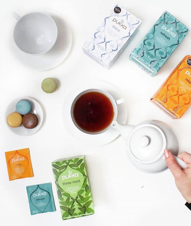☕ Afternoon tea & macaroons - how could we resist that packaging? @pukkaherbs • • • #yousayjump #wesayhowhigh #graphicdesign #newcastle #creativity #studio #inspiration #webdesign #website #graphicdesign #design #branding #ux #userexperience #development #pukkatea #pukka #pukkaherbs #tea #foodie #detox #instafood #cake #macaroons #instahealth #teatime #patisserievalerie