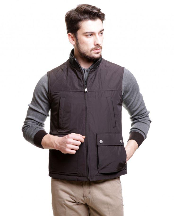 Karaca Erkek Dış Giyim - Kahve / Siyah #mensfashion #outwear #yelek #karaca #ciftgeyikkaraca www.karaca.com.tr