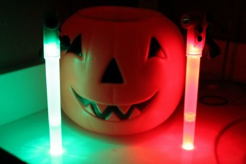 Keep everybody bright and safe with LED light sticks for Halloween! http://glowproducts.com/batteryoperated/7inchledlightstick/