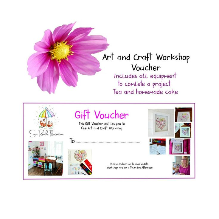 Excited to share the latest addition to my #etsy shop: Voucher for an Art and Craft Workshop with Sue Roche Illustration,Gift voucher, Watercolour painting, Watercolour Art http://etsy.me/2iF7Wdy