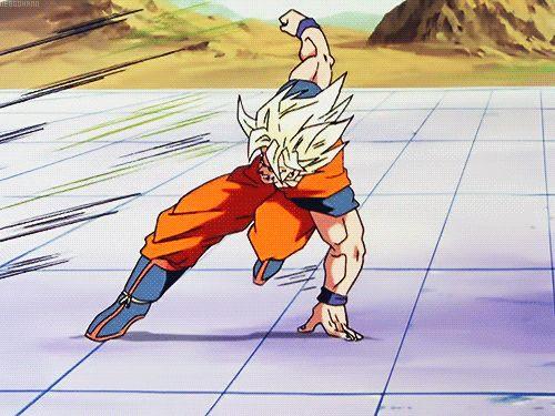 Goku vs. Cell gif.