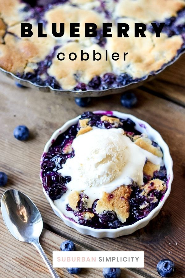 Blueberry Cobbler with Cookie Dough Crust
