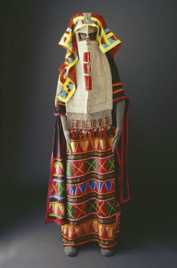 Traditional costume of the Rashaidah Tribe of Saudi Arabia