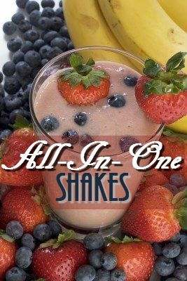 Morning All-In-One Shakes! Great way to kick start your day with so much goodness!