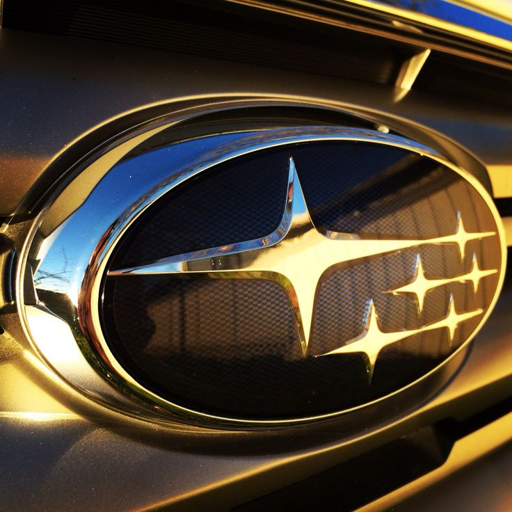 """Subaru Love!!  The name Subaru is the Japanese name for the Pleiades star cluster M45, or """"The Seven Sisters"""" (one of whom tradition says is invisible - hence only six stars in the Subaru logo), which in turn inspires the logo and alludes to the companies that merged to create"""