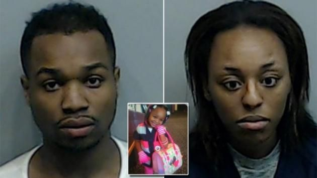 MONSTERS!  an innocent child!!!  Dad and Girlfriend Charged in Connection With the Death of His 7-Year-Old Daughter