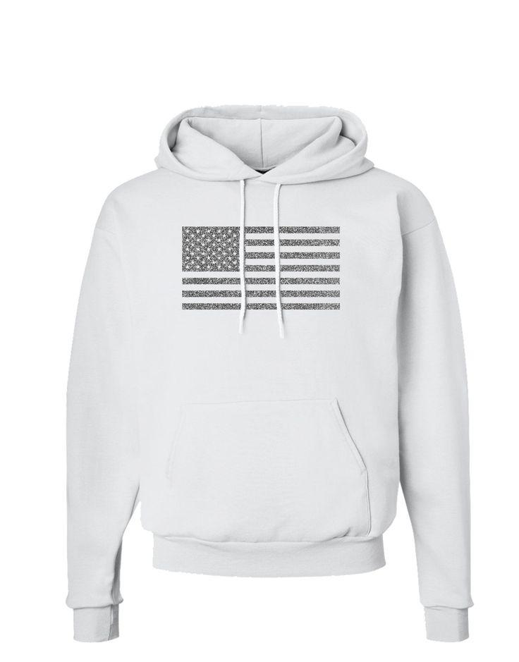 American Flag Glitter - Silver Hoodie Sweatshirt