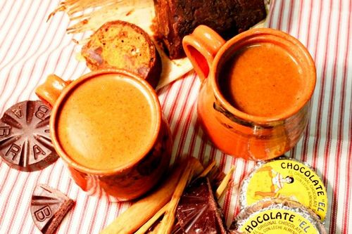 Champurrado, similar to pozol, is a hot thick drink also made of corn dough and chocolate.