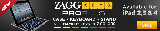 ZAGGkeys PRO and PROplus keyboard cases for iPad 2 and 3 - SHOP NOW