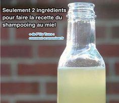 Seulement 2 ingrédients pour la recette du shampooing au miel. Pour 1 dose  : - 1 cuillère à soupe de miel non pasteurisé. - 3 cuillères à soupe d'eau filtrée. - facultatif : quelques gouttes d'huiles essentielles de votre choix.  Source : Comment-Economiser.fr | http://www.comment-economiser.fr/recette-shampoing-miel-maison.html