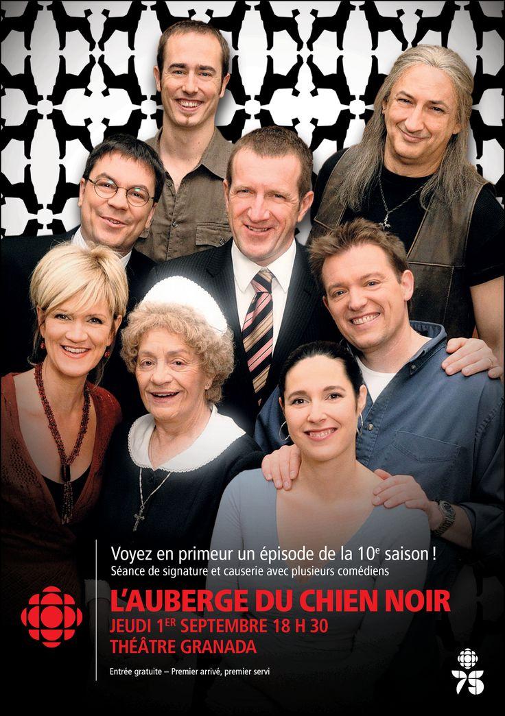 Lancement de Radio-Canada Estrie avec les comédiens de L'auberge du chien noir…