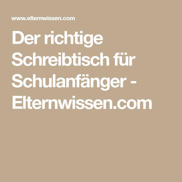 Der richtige Schreibtisch für Schulanfänger - Elternwissen.com